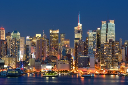 New York City skyline viewed from Weehawken, New Jersey. Stock Photo - 10545796