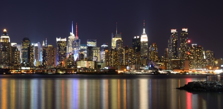 New York City skyline viewed from Weehawken, New Jersey.