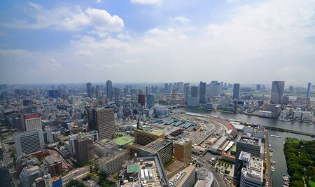 sumida: View of Shiome and Sumida River in Tokyo, Japan.