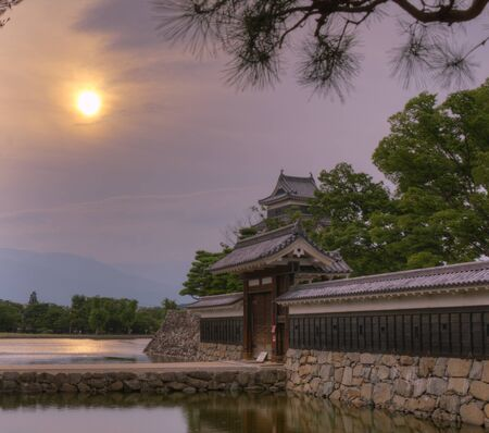 Entranceway to the historic Matsumoto Castle dating from the 15th Century in Matsumoto, Japan. Stok Fotoğraf