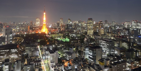 With nearly 35 million people, Tokyo, Japan is the world 版權商用圖片