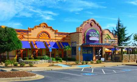 ATHENS, GA - SEPTEMBER 8: On the Boarder is an international chain of Texmex food and casual dining restaurants September 8, 2011 in Athens, GA. Stock Photo - 10580949