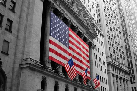 NEW YORK CITY - AUGUST 24: The historic New York Stock Exchange at 11 Wall Street is the largest exchange in the world by market capitalization August 24, 2011 in New York, NY. Stock Photo - 10580947