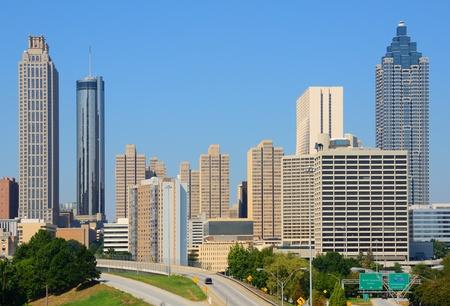 daytime: View of skyscrapers in downtown Atlanta, Georgia, USA. Stock Photo
