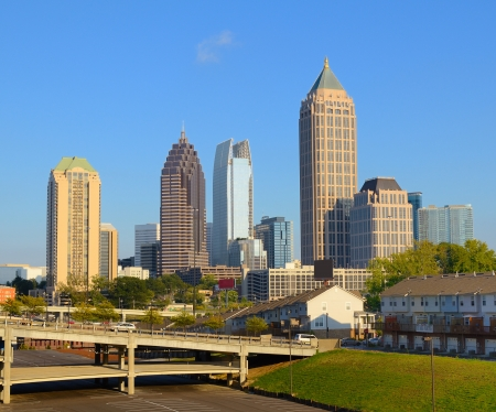 ミッドタウン アトランタ、ジョージア州のスカイライン。