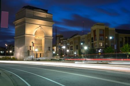 Millennium Gate at Atlantic Station in Midtown Atlanta, Georgia, USA.
