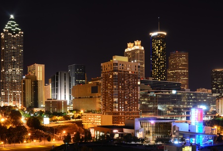 atlanta: Modern Architecture in downtown Atlanta, Georgia, USA. Stock Photo
