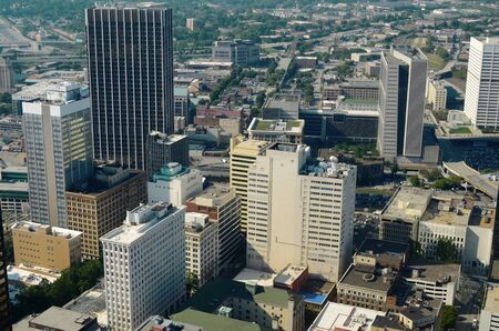 Aerial view of downtown Atlanta, Georgia, USA. photo