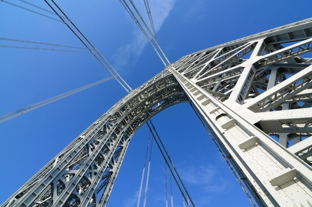 The George Washington Bridge Arch in New York City. Stock Photo