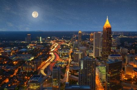 Skyscrapers in downtown Atlanta, Georgia. Stock Photo