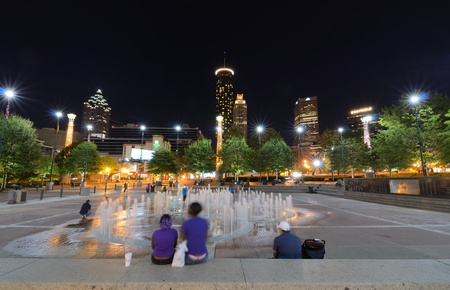 ATLANTA, GEORGIA - September 24: Centennial Olympic Park was built for the Centennial 1996 Summer Olympics and still remains a popular leisure destination September 24, 2011 in Atlanta, Georgia.