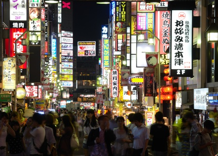 Tokyo, Japan - July 5, 2011: Kabuki-cho is the redlight and entertainment district of Tokyo, Japan.