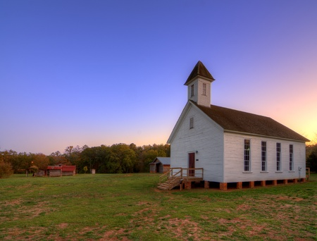 baptist: old southern baptist chapel Stock Photo
