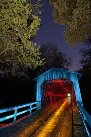Howards Bridge light Painted in Northeast Georgia. photo