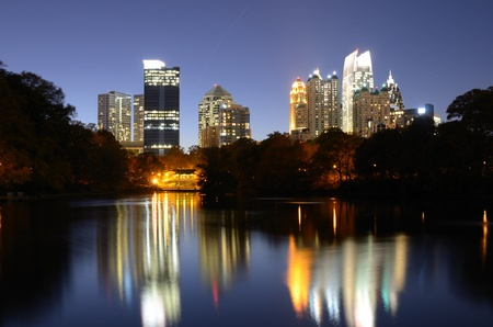 Atlanta Skyline viewed from Piedmont Park photo