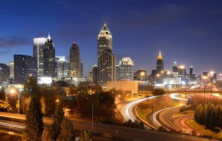 atlanta: cityscape of downtown atlanta, georgia, usa