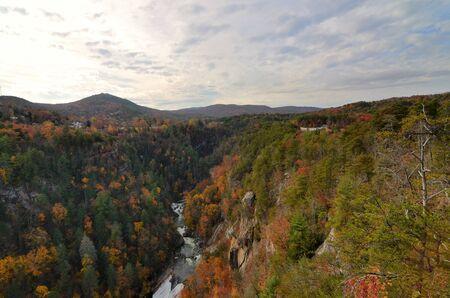 Tallulah Gorge in Northeast Georgia, USA. photo