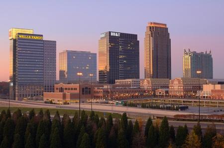 ATLANTA - NOVEMBER 12: Office buildings including Wells Fargo and BB&T in Atlantic Station November 12, 2011 in Atlanta, GA. Atlanta has the nation Editöryel