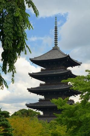 Toji Pagoda in Kyoto, Japan.