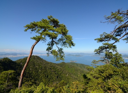atop: View from atop Mt. Misen on Miyajima Island, Hiroshima, Japan Editorial