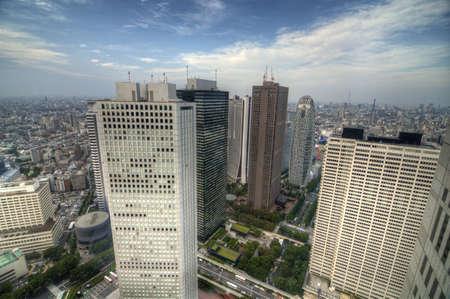 Skyline of Shinjuku, Tokyo, Japan as viewed from the Metropolitan Government Building.