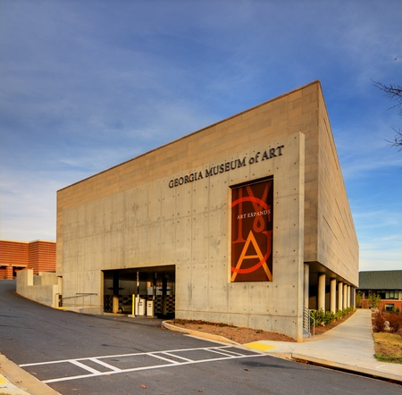 ATHENS, GEORGIA - DECEMBER 3: Georgia Museum of art December 3, 2011 in Athens, GA. Associated with the University of Georgia, it has been the official state museum of art since 1982. Stock Photo - 11414259