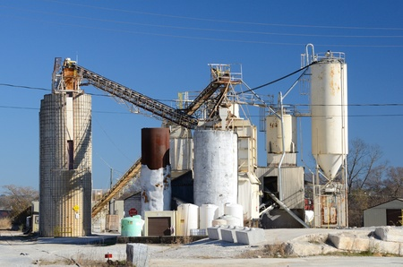 Exterior of a cement plant Stock Photo - 11868269