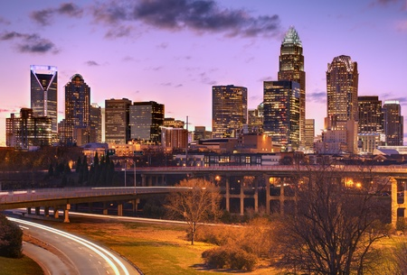 north carolina: Skyline of Uptown Charlotte, North Carolina. Editorial