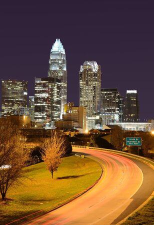 Skyline of Uptown Charlotte, North Carolina. photo