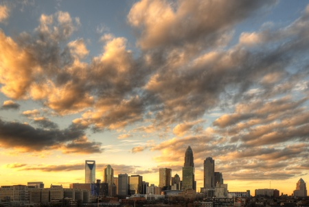 Skyline of Uptown Charlotte, North Carolina. Stock Photo - 11890506