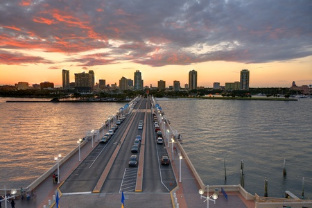 Skyline of St. Petersburg, Florida from the Pier. Stock Photo - 11890588