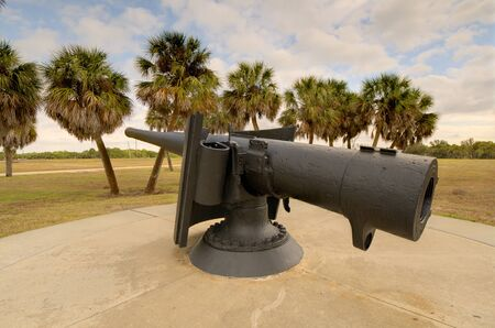 cannon at Fort Desoto, Florida 新聞圖片