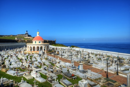 san juan: HIstoric cemetery in San Juan, Puerto Rico.