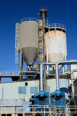 silo containers at a rubber plant Stock Photo - 11868257