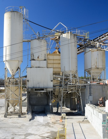 Exterior of a cement plant Stock Photo - 11868243