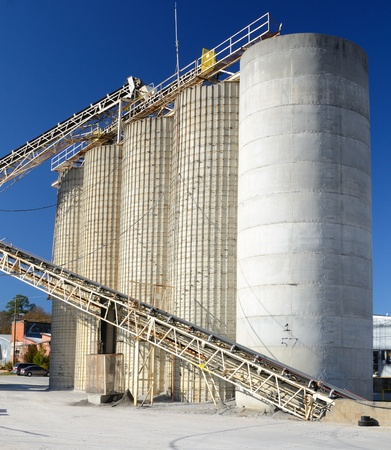 Exterior of a cement plant Stock Photo - 11868244