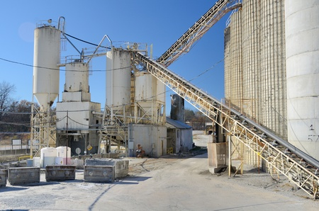 Exterior of a cement plant Stock Photo - 11868261