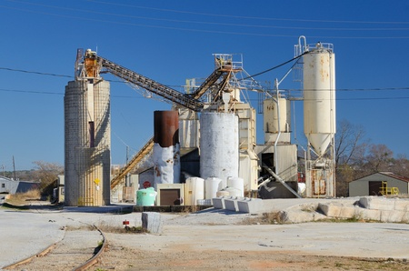 Exterior of a cement plant Stock Photo - 11868262