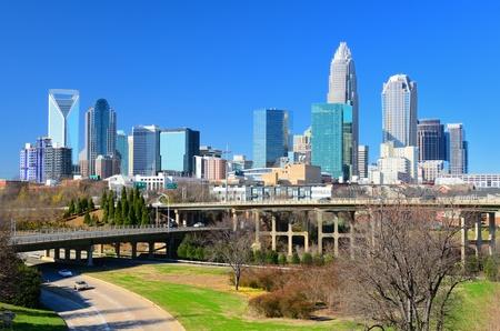 charlotte: Skyline of Uptown Charlotte, North Carolina. Editorial