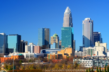 Skyline of Uptown Charlotte, North Carolina.
