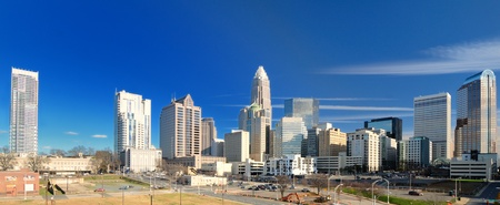 north carolina: Skyline of Uptown Charlotte, North Carolina. Stock Photo