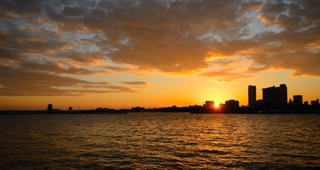 sunset over st. pete, florida photo