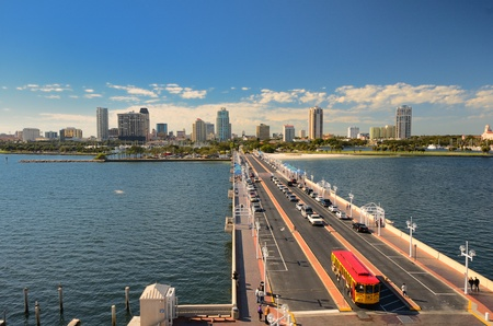 Skyline of St. Petersburg, Florida from the Pier Stock Photo - 11868276