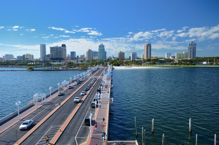 St. Pete, Florida from the Pier Stock Photo - 11868272