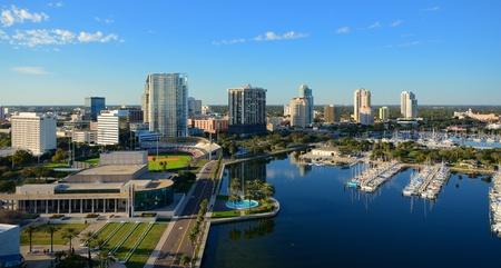 Vista a�rea de San Petersburgo, Florida Foto de archivo