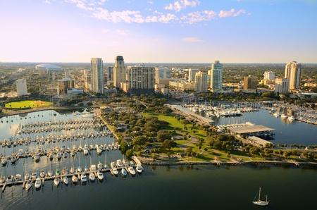 st  petersburg: Aerial view of St. Petersburg, Florida