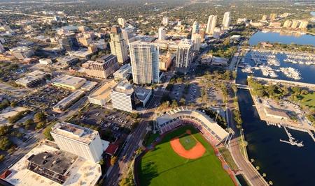 tampa bay: Aerial view of St. Petersburg, Florida