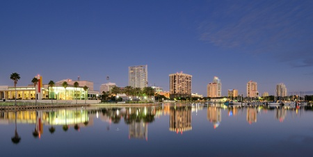 bay: Skyline of St. Petersburg, Florida