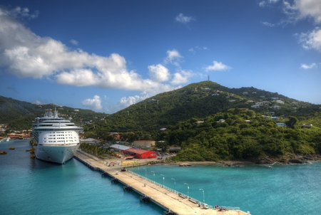 the virgin islands: Port at St. Thomas, U.S. Virgin Islands. Editorial