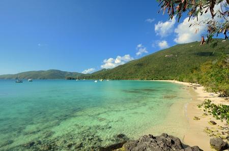 세인트 토마스, 미국령 버진 아일랜드 브루어스 비치 석호.